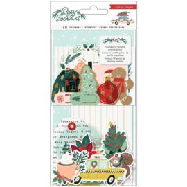 Crate Paper Busy Sidewalks Ephemera Die-Cuts 40/Pkg Cardstock & Vellum Preorder