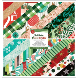 """American Crafts Single-Sided Paper Pad 12""""X12"""" 48/Pkg Vicki Boutin Warm Wishes Preorder"""