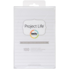 """Project Life 4""""X6"""" Cards 100/Pkg Lined"""