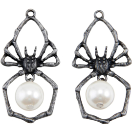 Tim Holtz Idea-Ology Metal Adornments 2/Pkg Spiders