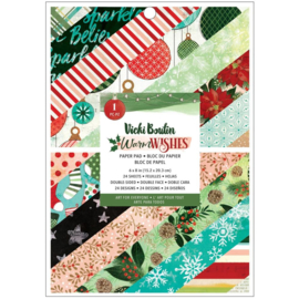 """American Crafts Single-Sided Paper Pad 6""""X8"""" 36/Pkg Vicki Boutin Warm Wishes Preorder"""