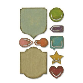 Sizzix Sidekick Side-Order Set Noted 664150 Tim Holtz