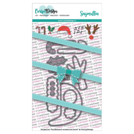 Carlijn Design Snijmallen Knuffelkaart accessoires kerst