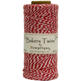 Hemptique Cotton Baker's Twine Spool 2-Ply 410' Red