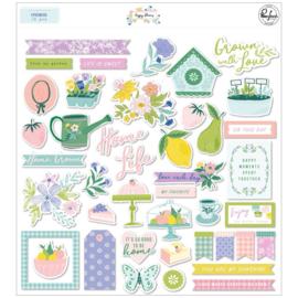 PinkFresh Cardstock Die-Cuts Happy Blooms Preorder