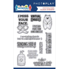 PhotoPlay Photopolymer Stamp The New Normal Phrase