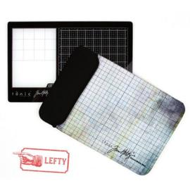 Tonic Studios Tools - Travel Glass media mat (40,0x26,0cm) Linkshandig 2632e Tim Holtz