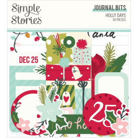 Simple Stories Holly Days Bits & Pieces Die-Cuts 30/Pkg Journal
