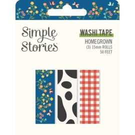 Simple Stories Homegrown Washi Tape 3/Pkg