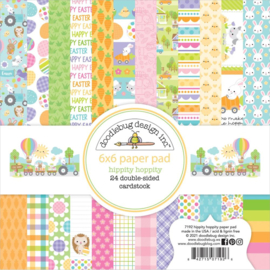 "Doodlebug Double-Sided Paper Pad 6""X6"" 24/Pkg Hippity Hoppity, 12 Designs/2 Each Preorder"