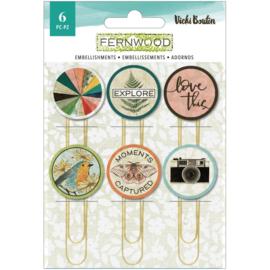 Vicki Boutin Fernwood Epoxy Paper Clips 6/Pkg preorder