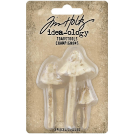 "Tim Holtz Idea-Ology Resin Toadstools 3/Pkg 1.25"" To 2.5"""