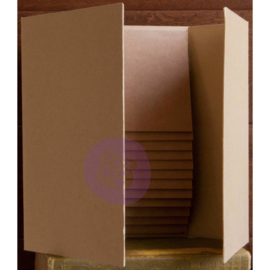 "Prima Memory Hardware Chipboard Album 6""X9"" Kraft Magnetic Dossier W/12 Pages"