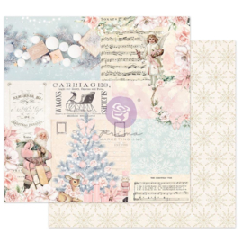 """Frank Garcia Christmas Sparkle Dbl-Sided Cardstock 12""""X12"""" Icy Blue Christmas, W/Foil Details"""