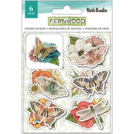 Vicki Boutin Fernwood Layered Stickers 6/Pkg preorder