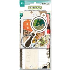 Vicki Boutin Fernwood Ephemera Cardstock Die-Cuts Journaling Tags W/Ring preorder