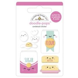 Doodlebug Doodle-Pops 3D Stickers Bake Me Happy