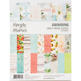 "Simple Stories Double-Sided Paper Pad 6""X8"" 24/Pkg Simple Vintage Coastal"