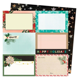 """Vicki Boutin Warm Wishes Double-Sided Cardstock 12""""X12"""" Happy Holidays"""