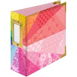 "We R Paper Wrapped D-Ring Album 4""X4"" Color Wheel By Paige Evans"