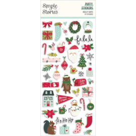 Simple Stories Holly Days Puffy Stickers 45/Pkg