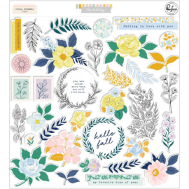 PinkFresh Floral Cardstock Die-Cuts The Best Day