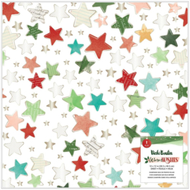 """Vicki Boutin Warm Wishes Specialty Paper 12""""X12"""" Vellum W/Champagne Gold Foil Preorder"""
