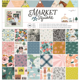 """American Crafts Single-Sided Paper Pad 12""""X12"""" 48/Pkg Maggie Holmes Market Square preorder"""