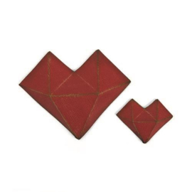 Sizzix Thinlits Die Set - 2PK Faceted Heart 664156 Tim Holtz