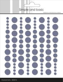 Simple and Basic Adhesive Enamel Dots Eggplant (96 pcs)