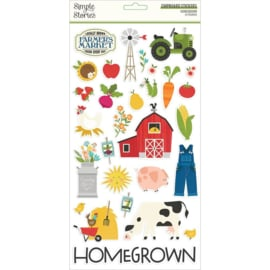 """Simple Stories Homegrown Chipboard Stickers 6""""X12"""" preorder"""