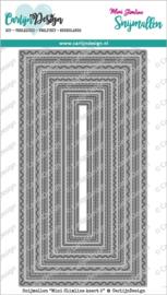 CarlijnDesign Snijmallen Mini Slimline Kaart 2 (CDSN-0120)