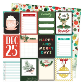 """Vicki Boutin Warm Wishes Double-Sided Cardstock 12""""X12"""" Hello December"""
