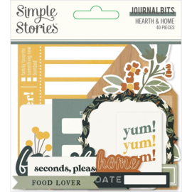 Simple Stories Hearth & Home Bits & Pieces Die-Cuts 40/Pkg Journal preorder