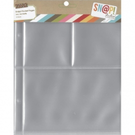 "Sn@p! Pocket Pages 4""X6"" & 3""X4""  Binders 10/Pkg"
