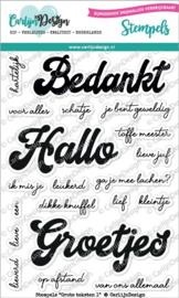 Carlijn Design Stempels Grote teksten 1