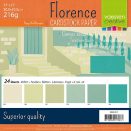 Florence • Cardstock multipack 30,5x30,5cm Groen licht