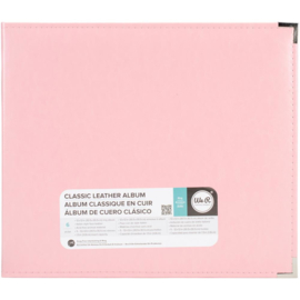 """We R Classic Leather D-Ring Album 12""""X12"""" Pretty Pink"""