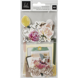 Heidi Swapp Storyline Chapters Ephemera Cardstock Die-Cuts W/Gold Foil Accents