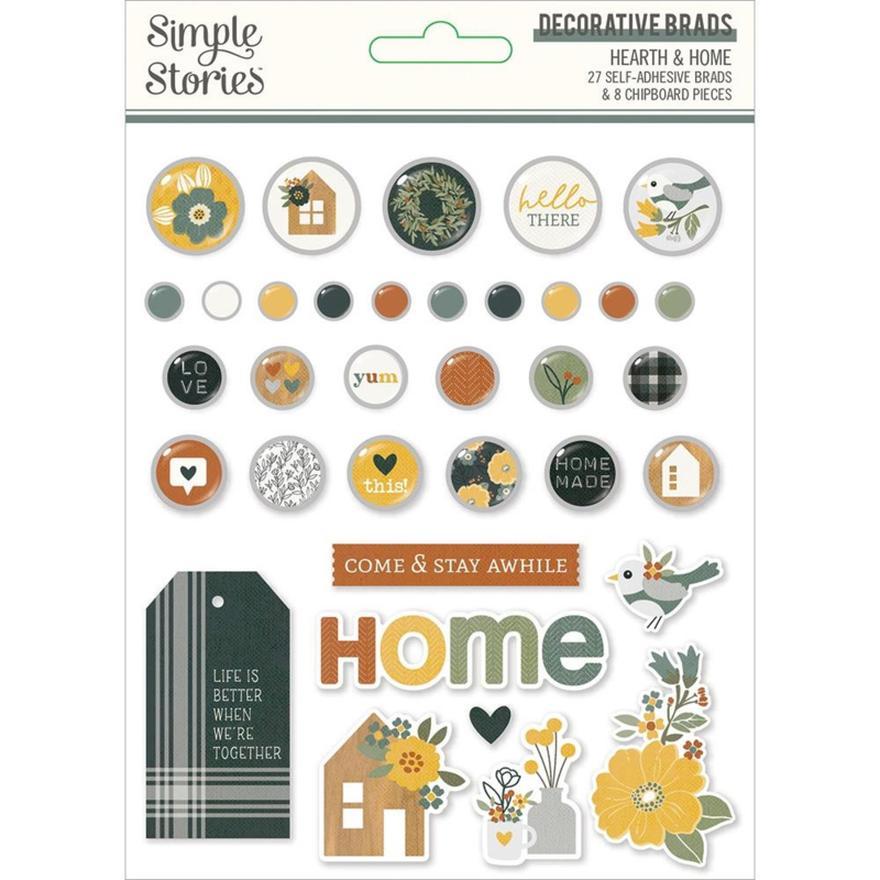 Simple Stories Hearth & Home Decorative Brads preorder