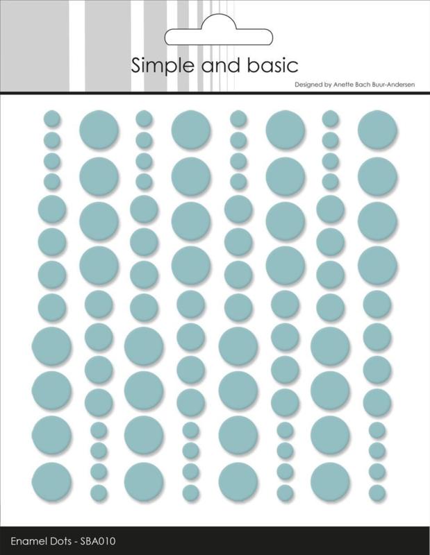 Simple and Basic Adhesive Enamel Dots Mint (96 pcs)