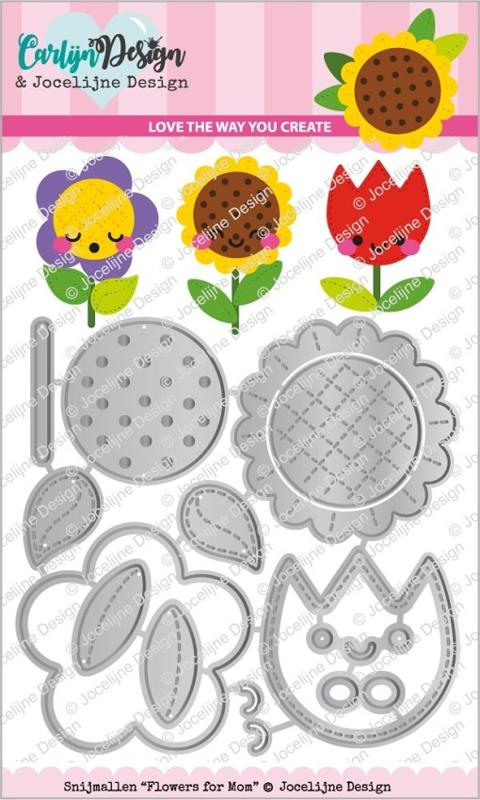 CarlijnDesign Snijmallen Flowers for Mom