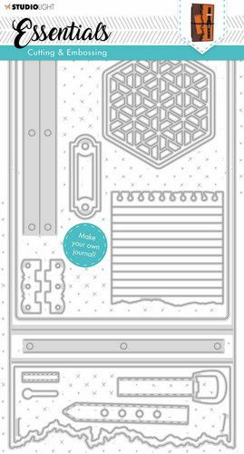 Studio Light Embossing Die Cut Stencil Journal Essentials nr.342 STENCILSL342