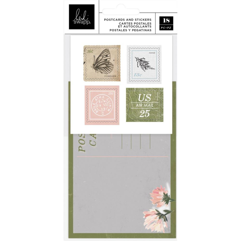 Heidi Swapp Storyline Chapters Postcards & Stamps 18/Pkg