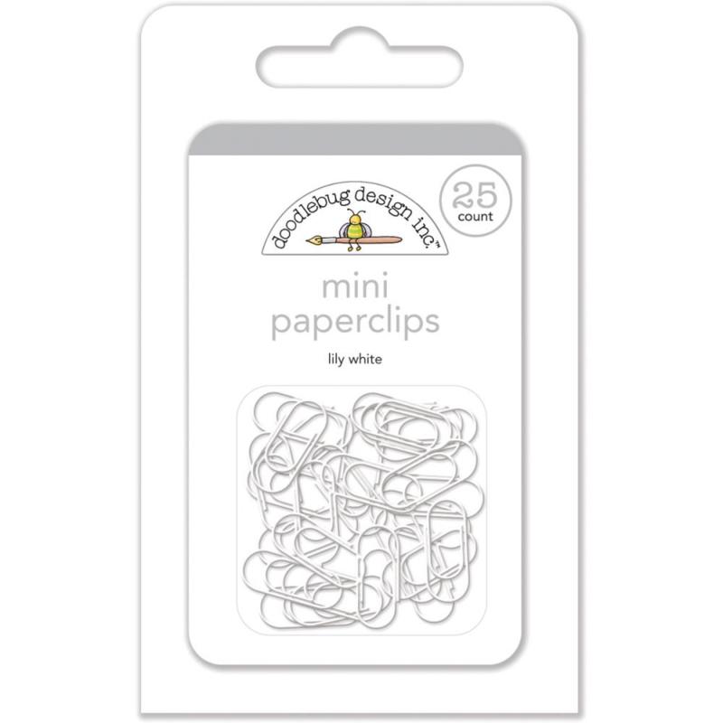 Doodlebug Mini Paperclips 25/Pkg Lily White