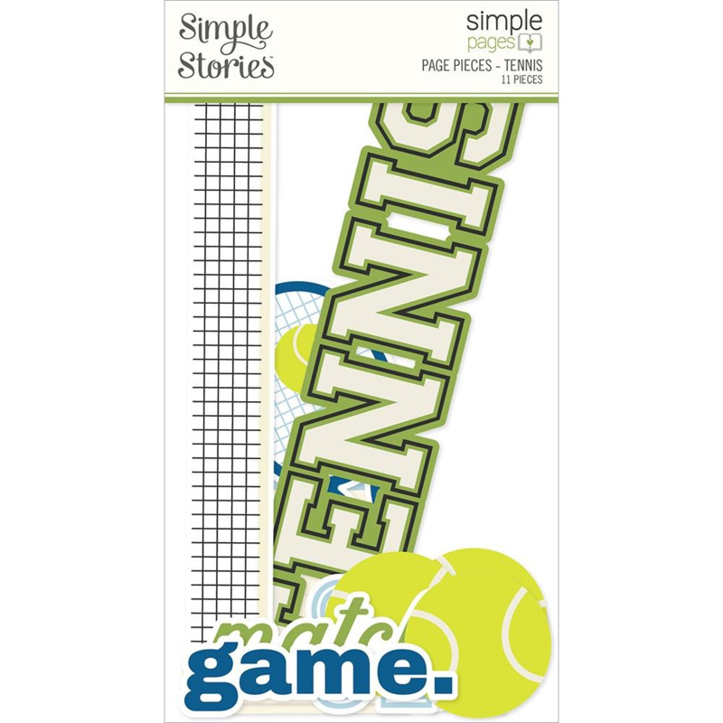 Simple Stories Simple Pages Page Pieces Tennis