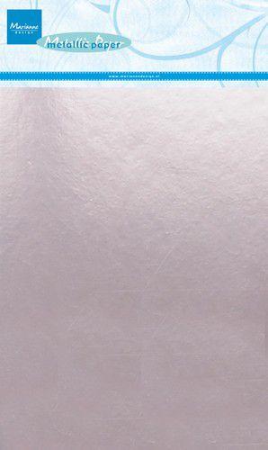 Marianne D Decoratie Metallic papier 5vl - Lichtroze CA3139 A5