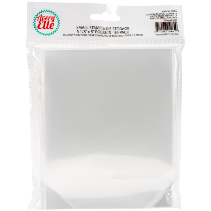 """Avery Elle Stamp & Die Storage Pockets 50/Pkg Small 5""""X5"""""""