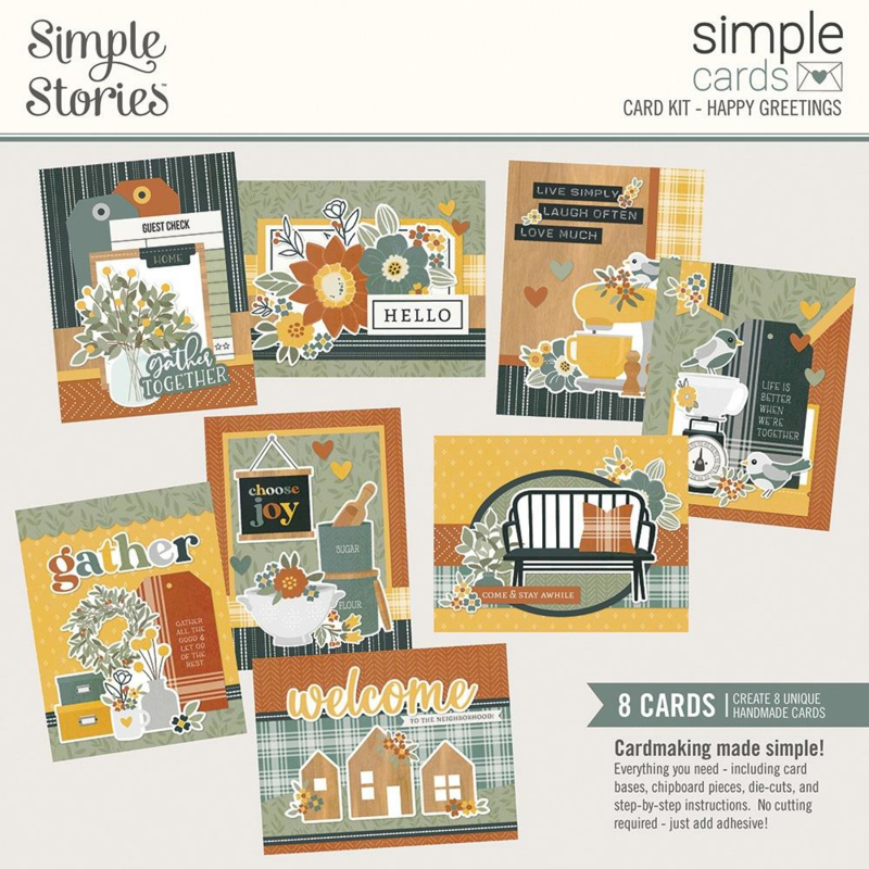 Simple Stories Simple Cards Card Kit Happy Greetings, Hearth & Home preorder