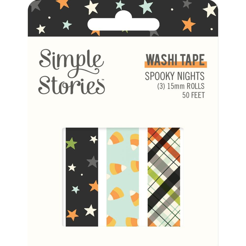 Simple Stories Spooky Nights Washi Tape 3/Pkg preorder